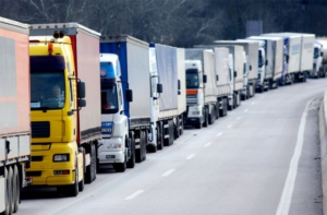 Traffic of truckers
