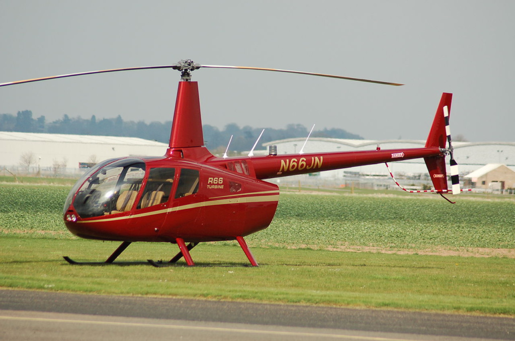 five-seat model helicopter Robinson R66, 2013 Photo: Wikipedia