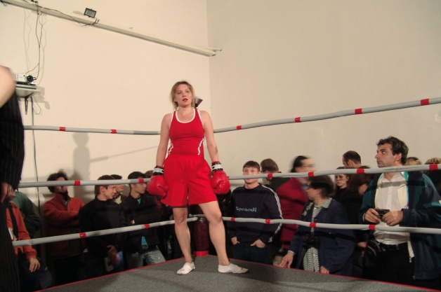Elena Kovylina is waiting for a new opponent during the performance