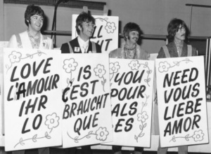 "the Beatles posters ""All you need is love"""