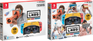 Two new Labo VR kits: Starter (left) and Full (right)
