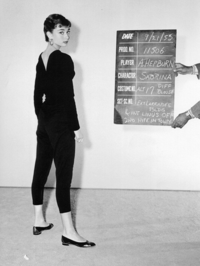 "Image of Audrey Hepburn for the role in the film ""Sabrina"""