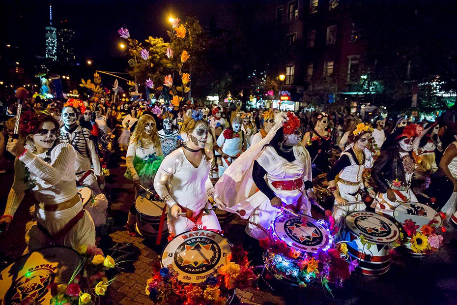 Halloween parade in New-York, the capital of the holiday