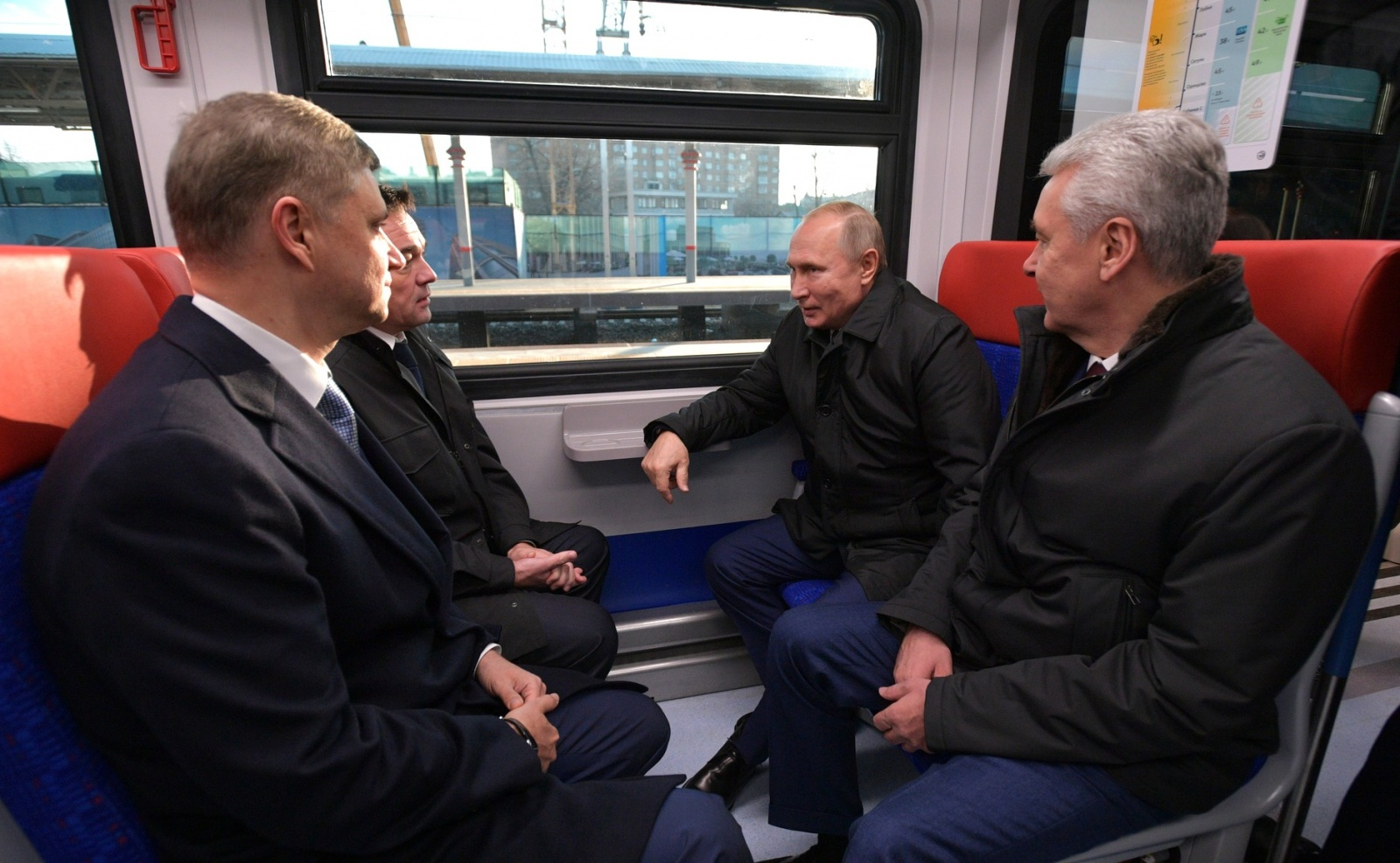 Vladimir Putin was amongst the first passenders of D1