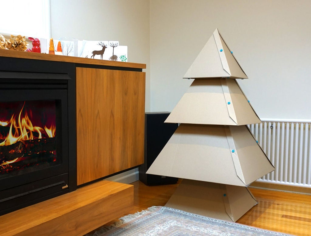 Pyramid-shaped Christmas tree