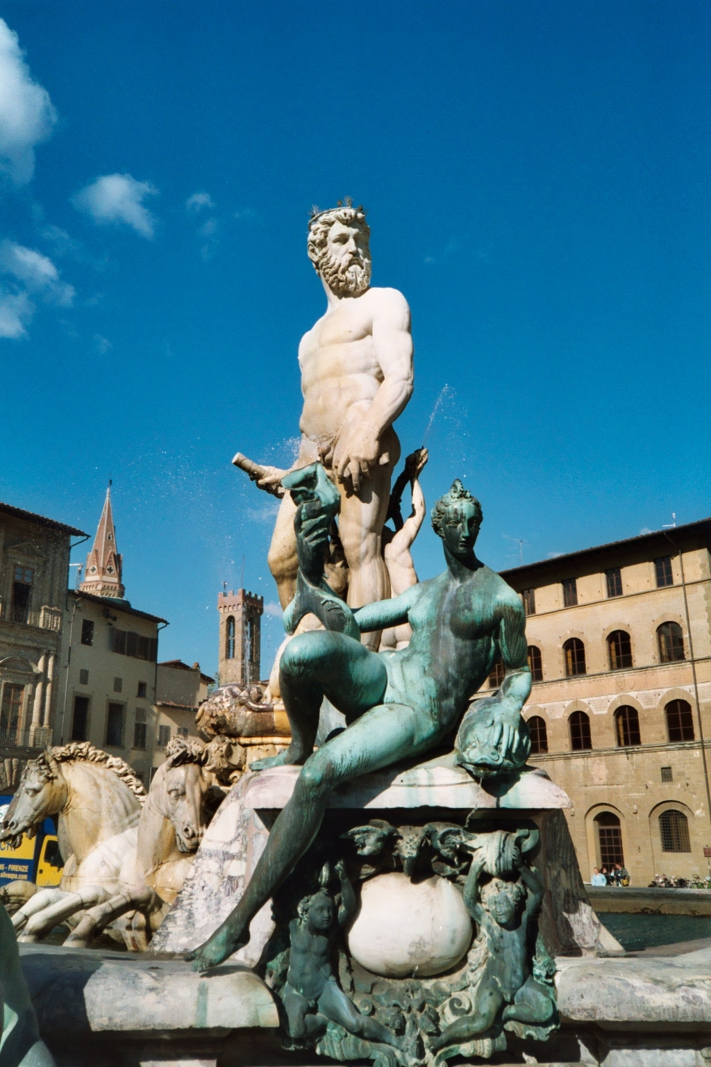 The Fountain of Neptune is a fountain in Florence, Italy, situated on the Piazza della Signoria