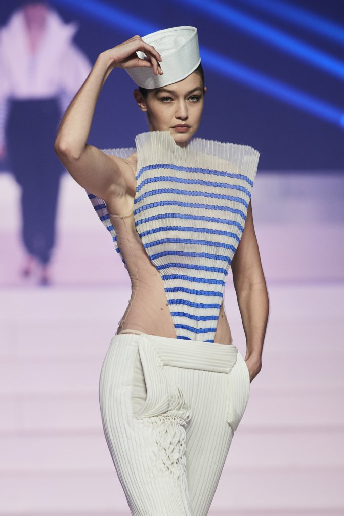 Gigi Hadid joined the last Jean-Paul Gautier show