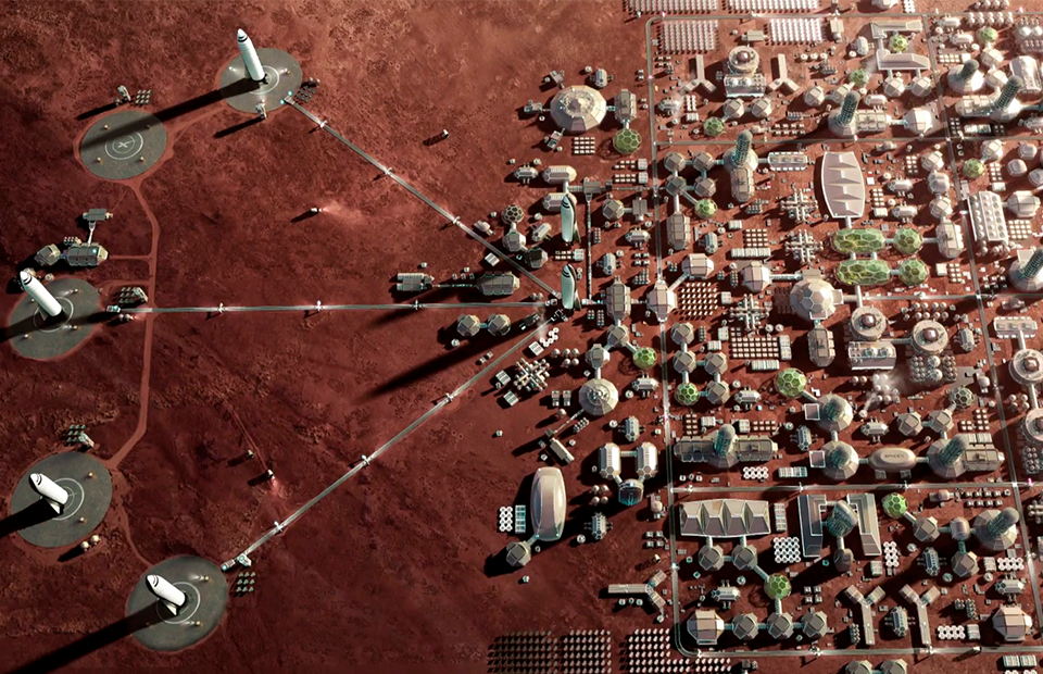 What planetary colonisation will look like (source: SpaceX press materials)